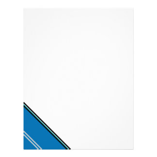 Urban Blue Lakeside Stripe Letterhead