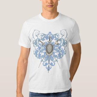 Urban Blue Swords Fencing Mask Mens T-Shirt