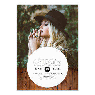 Urban Boho | Circle Graduation Party Photo Card
