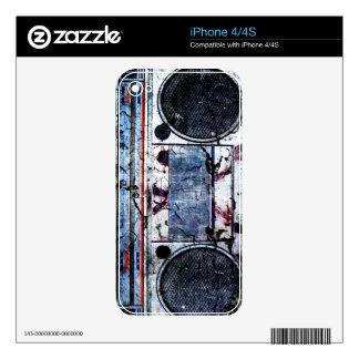 Urban boombox iPhone 4S decal