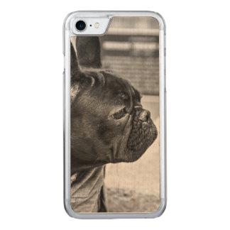 Urban bulldog carved iPhone 7 case