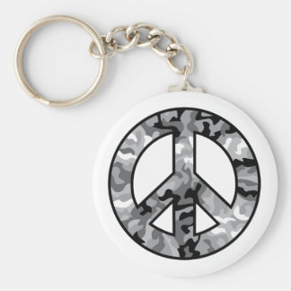 Urban Camo Peace Keychain