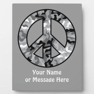 Urban Camo Peace Plaque