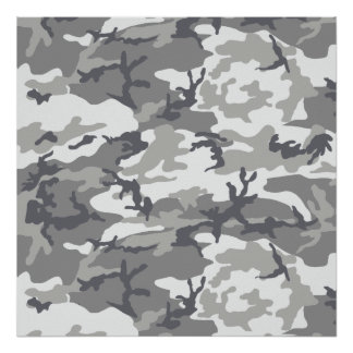 Urban Camoflage Pattern in Greys and White Print