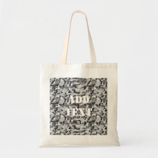 Urban Camouflage - Black & Grey Budget Tote Bag