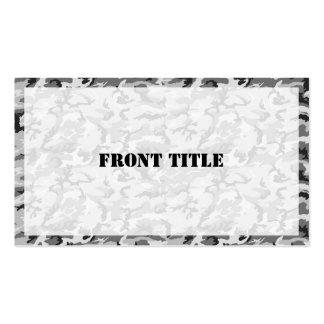 Urban Camouflage - Black & Grey Business Card