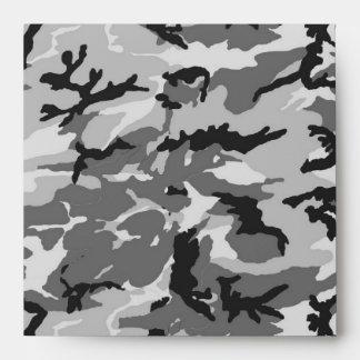 Urban Camouflage - Black & Grey Envelope