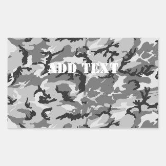 Urban Camouflage - Black & Grey Rectangular Sticker