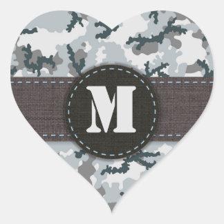 Urban camouflage heart sticker