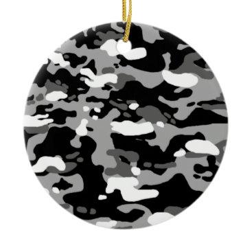 Urban Camouflage III Ceramic Ornament