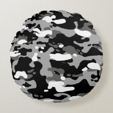 Urban Camouflage III Round Pillow