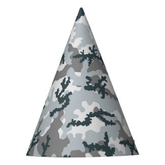Urban camouflage party hat