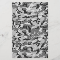 Urban Camouflage Pattern - Black & Grey