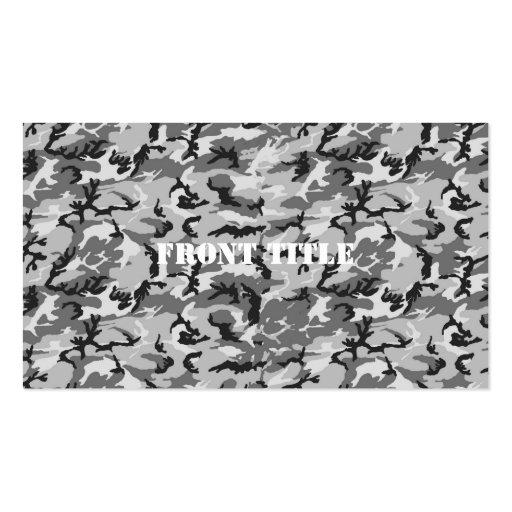 Urban Camouflage Pattern - Black & Grey Business Card