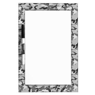 Urban Camouflage Pattern - Black & Grey Dry-Erase Board