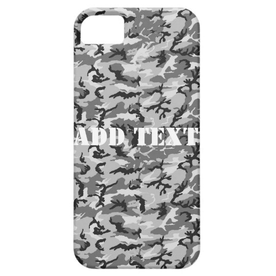 Urban Camouflage Pattern - Black & Grey iPhone SE/5/5s Case