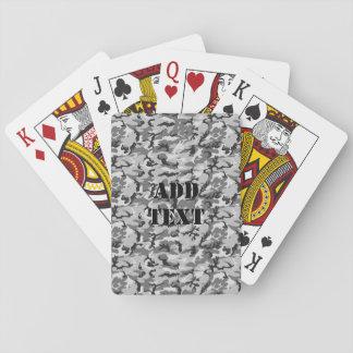 Urban Camouflage Pattern - Black & Grey Playing Cards