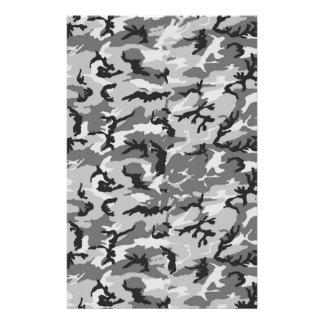 Urban Camouflage Pattern - Black & Grey Stationery