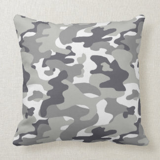 Urban Camouflage Pattern Throw Pillow