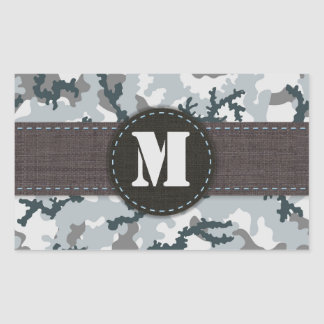 Urban camouflage rectangular sticker