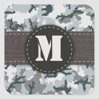 Urban camouflage square sticker