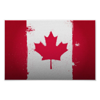 Urban Canada Flag Poster