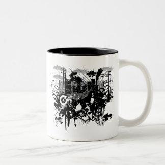 Urban Chaos Two-Tone Coffee Mug