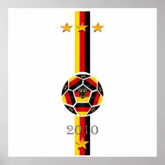 Urban Chic 3 star Germany soccer flag logo Poster