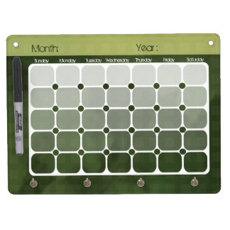 Urban Chic Gradient Calendar Dry Erase Board
