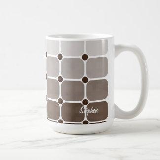 Urban Chic Personalized Mug - Coffee Brown