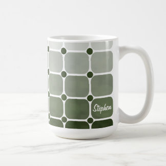 Urban Chic Personalized Mug - Forest Green