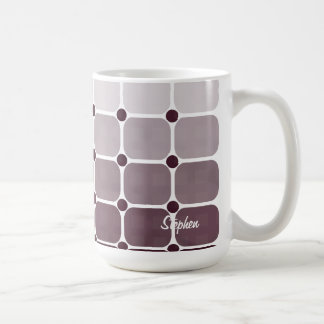 Urban Chic Personalized Mug - Plum