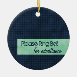 Urban Chic Please Ring Bell Ornament
