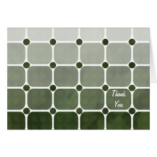 Urban Chic Thank You Notecard - Forest Green