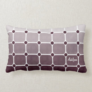 Urban Chic Throw Pillow - Plum