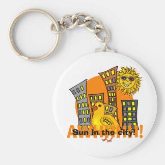 Urban Chick Basic Round Button Keychain