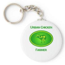 Urban Chicken Farmer Keychain