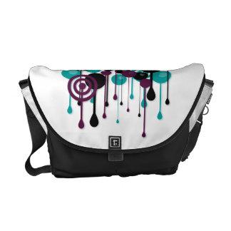 Urban Circles Custom Name White Messenger Bags