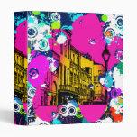 urban city graffiti paint splatter design colorful 3 ring binder