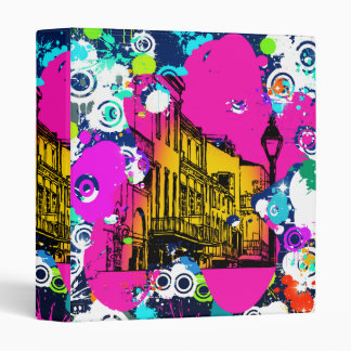 urban city graffiti paint splatter design colorful 3 ring binder