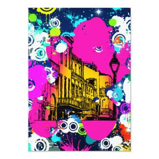 urban city graffiti paint splatter design colorful card