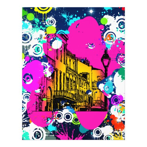 urban city graffiti paint splatter design colorful flyer