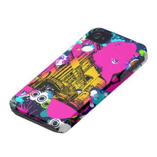urban city graffiti paint splatter design colorful iPhone 4 case