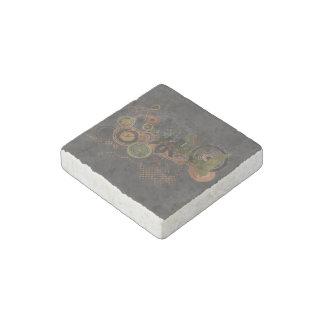 Urban City Grunge Background Stone Magnet