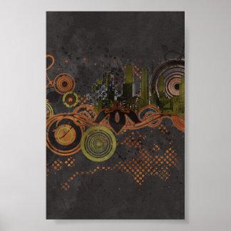 Urban City Grunge Background Poster