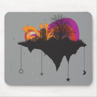 urban city in the sky mouse pad
