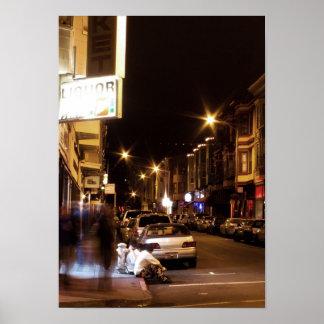 Urban City Night Life Poster
