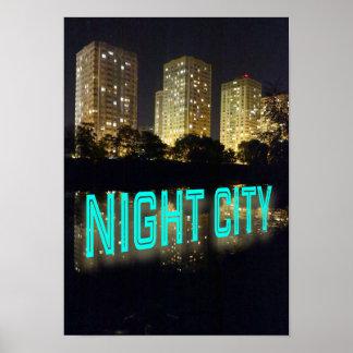 Urban City Nightlife Poster