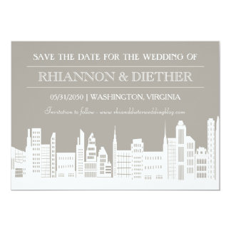 Urban City Save the Dates Card