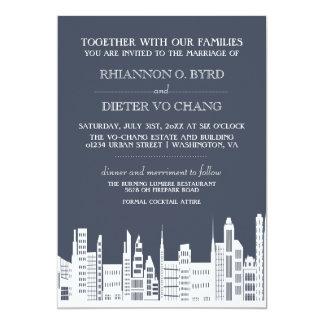 Urban City Wedding Invitations